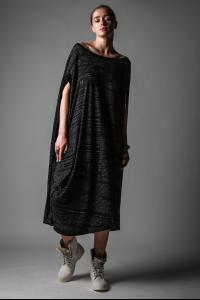 Rundholz Printed Long Draped Dress