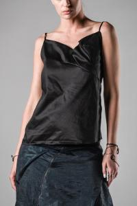 Leon Emanuel Blanck DIS-W-ST-01 Anfractuous Distortion Pleated Tank Top