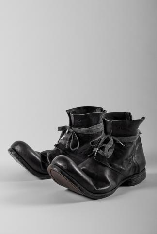 Portaille Shoes Upturned Toe Back-zip Ankle Boots