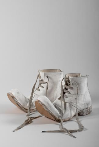 Portaille Shoes Upturned Toe Back-zip Hand-painted Ankle Boots