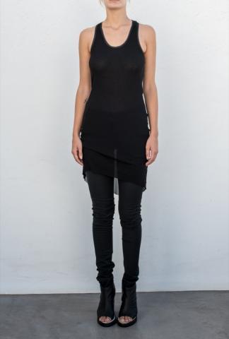 Alessandra Marchi Semi Sheer Elongated Slip Top