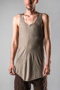 Leon Emanuel Blanck DIS-M-FTT/01 Anfractuous Distortion Fitted Tank Top