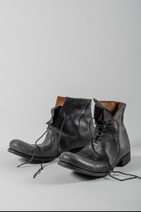 M.A+ S1B2 Sterling Silver Stapled Reversed Culatta Leather Ankle Boots