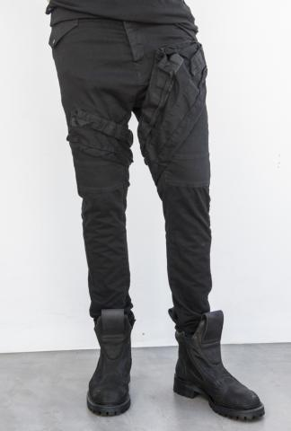 Julius_7 577PAM18 Slim Asymmetric Cargo Trousers