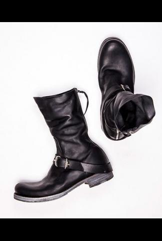 M.A+ tall buckle back zipper boots