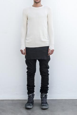 Boris Bidjan Saberi P14 curved leg jeans w/part.handstitch