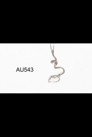 M.A+ kiwi branch necklace