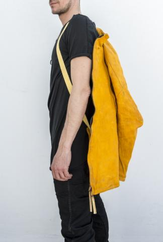 Boris Bidjan Saberi J4 2-zip yellow leather jacket