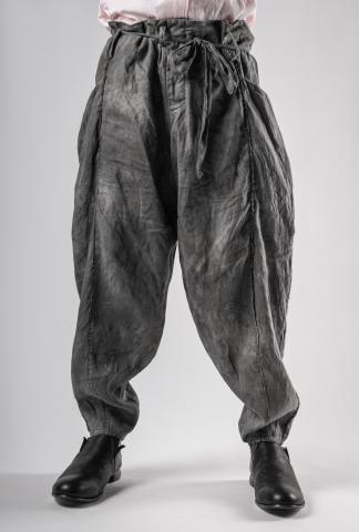 Chiahung Su Vintage Fabric Strapped Voluminous Trousers