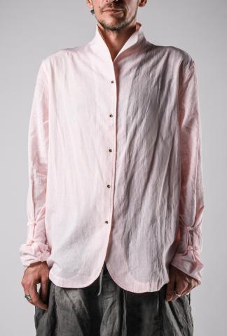Chiahung Su Vintage Jacquard Weave Mandarin Collar Shirt