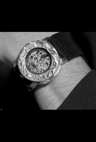FOB Paris FOB x P4 n°4 Silver & Leather Watch