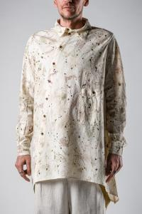 Aleksandr Manamis Asymmetric Paint Splashed Shirt