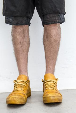 Boris Bidjan Saberi BAMBA2 low sneaker in yellow