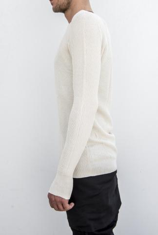 Boris Bidjan Saberi KN1 light sweater, off-white