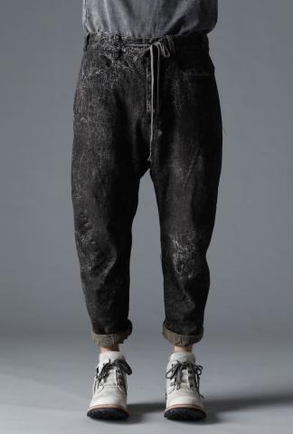 D.HYGEN Drop Crotch Tapered Cropped Denim Trousers