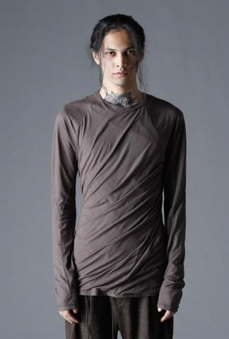 D.HYGEN Double Layered Twisted Long Sleeve T-Shirt