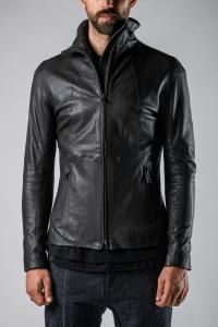 MUT High Collar Leather Jacket