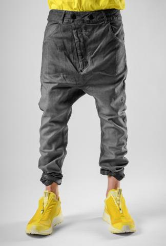 11byBBS P4C Gradient Low Crotch Buckle Trousers