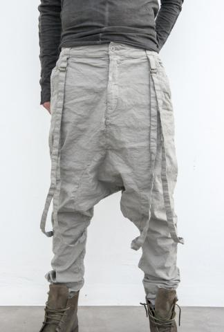 POEME BOHEMIAN drop crotch pants with braces
