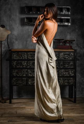 AtelierSeptem Mulberry Silk Fern & Mugwort Dress