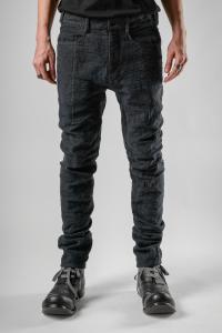D.HYGEN Slub Jacquard Denim 3D Curved Slim Pants