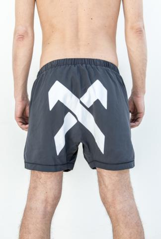 11byBBS SW1 White Cross Swim Shorts