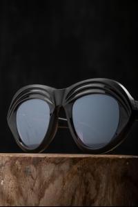 Rigards RG0200 Buffalo Horn Matte Mirror Sunglasses