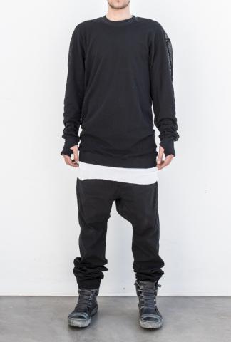 11byBBS C1 2-layered mesh light sweater