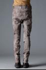 D.HYGEN Wood Tannin&Iron Oxide Dye Random Dimple Twisted Curve Slim Pants