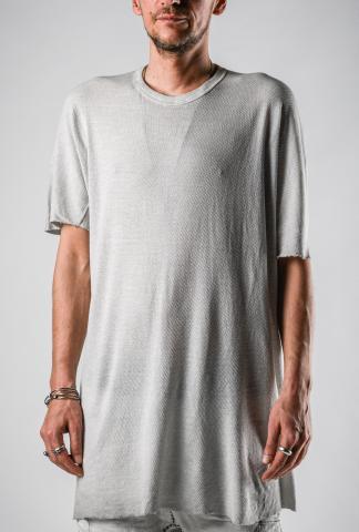 Boris Bidjan Saberi ONE PIECE TS REGULAR FIT Faded Light grey Short Sleeve T-shirt