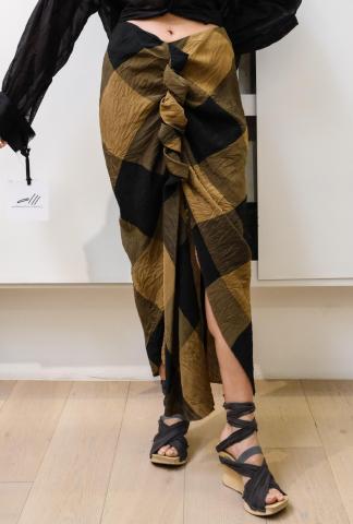 Alessandra Marchi Front Draped Skirt