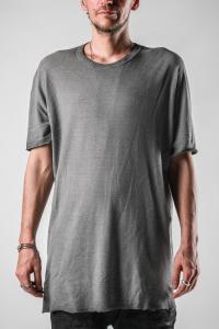 Boris Bidjan Saberi ONE PIECE TS REGULAR FIT Faded Dark grey Short Sleeve T-shirt