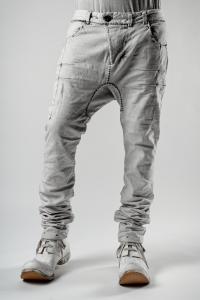 Boris Bidjan Saberi P13 HS TIGHT FIT 16H HAND STITCHED Punk grey Jeans