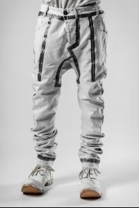 Boris Bidjan Saberi P14.1 Punk Grey Seam Taped Tapered Jeans