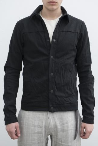 Devoa Anatomic Mesh Back Panelled Denim Jacket