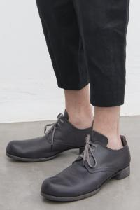 Devoa Broqued Leather Derbies