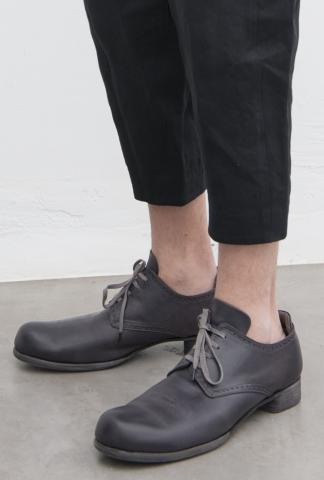 Devoa Broqued Leather Derbies