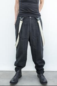 Aleksandr Manamis Heavy Loose Trousers with Suspenders