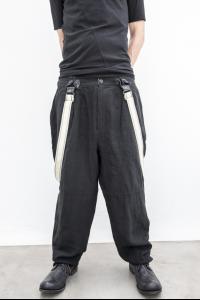 ALEKSANDR MANAMIS 'classic' semi-loose pants w/suspenders