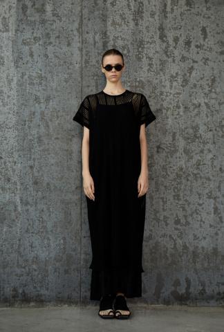 Uma Wang Geometric Semi-sheer Dress