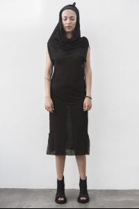 MA+ hooded long slip on dress