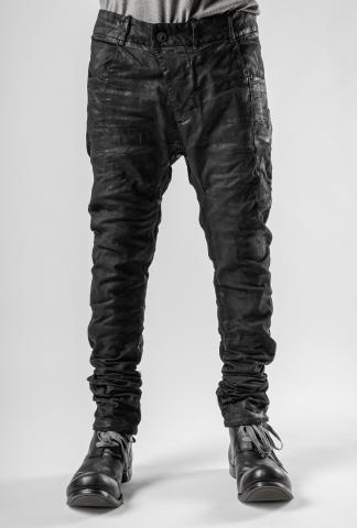 Boris Bidjan Saberi P13TF Black Vinyl Processed Jeans