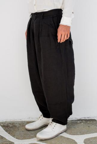 ALEKSANDR MANAMIS Dusty black loose fit pants