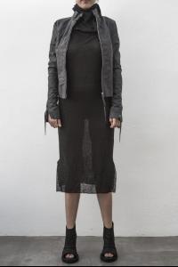 MA+ wo. zipped sleeves lined biker jacket