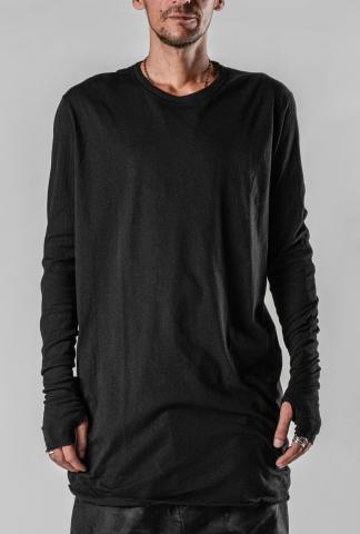 Boris Bidjan Saberi LS1.2 RF Regular Fit Partially Ribbed Long Sleeve T-Shirt