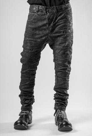 Boris Bidjan Saberi P13TF Dark Grey Vinyl Processed Jeans