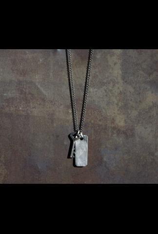 Werkstatt Munchen M3904 Fine Chain Key + Tag Necklace
