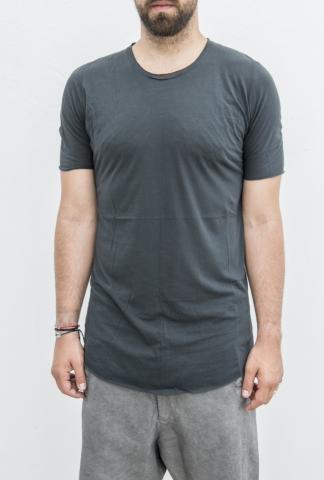 10Sei0otto Round Neck Cross Pattern T-shirt