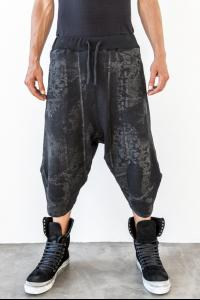 Andrea Ya'aqov Waxed Curved Sweat Shorts
