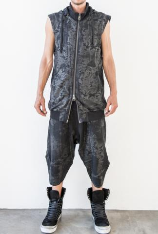 Andrea Ya'aqov waxed hooded vest
